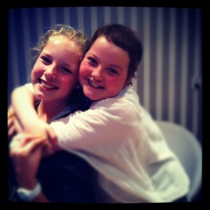 Xena met haar vriendin Mandy
